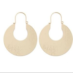 Gold Cutout Hoop Earrings F21